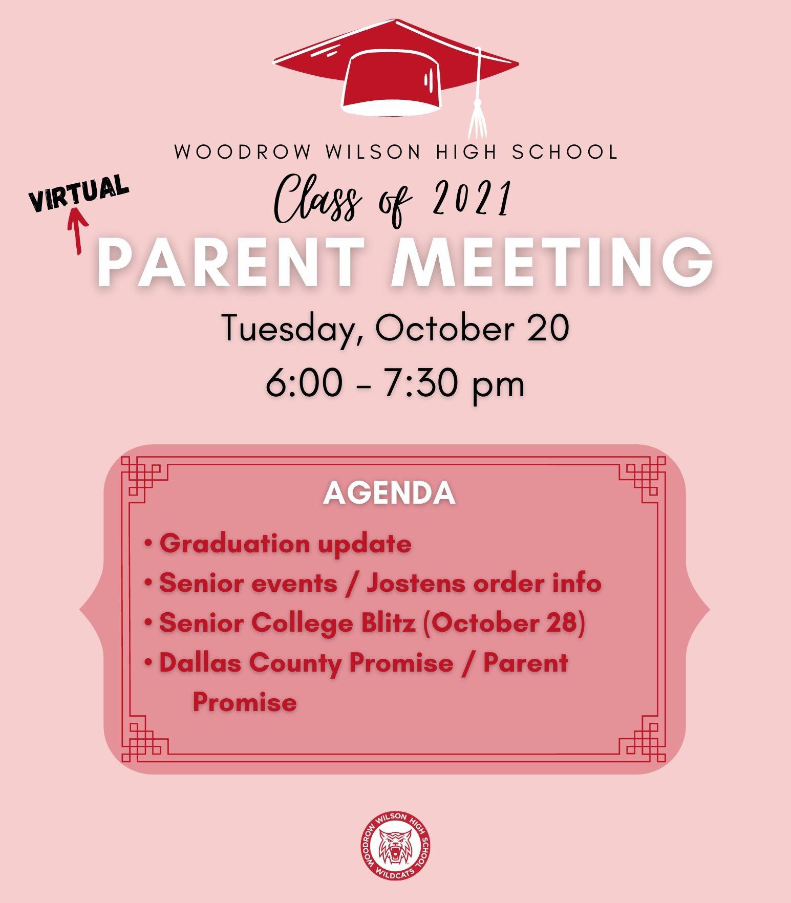 Class of 2021 Parent Meeting
